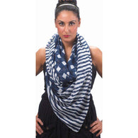Navy Vogue Scarf-Scarves-Across The Counter