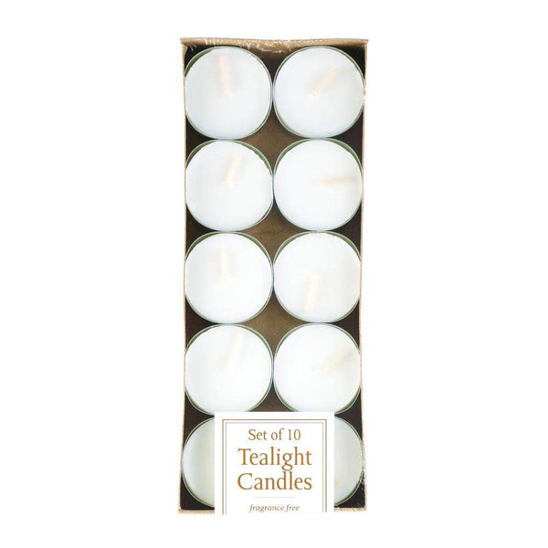 10 Pack Poured Tealights In Metal Cups-Tealight Candles-Across The Counter