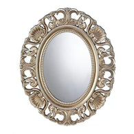 Gilded Oval Wall Mirror-Mirrors-Across The Counter