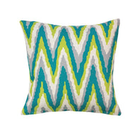 Electric Chevron Large Pillow-Blankets and Bedding-Across The Counter