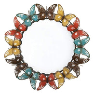 Colorful Butterfly Wall Mirror-Mirrors-Across The Counter
