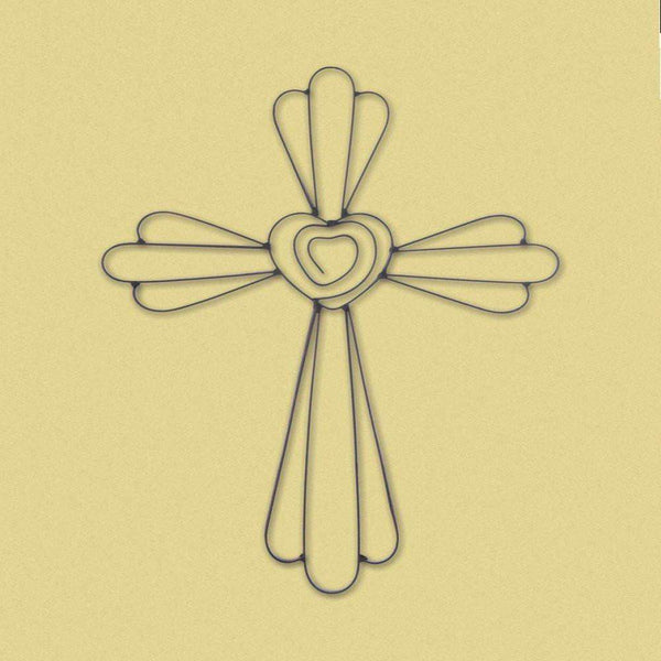 Faith And Love Wall Cross-Heavenly Decor-Across The Counter