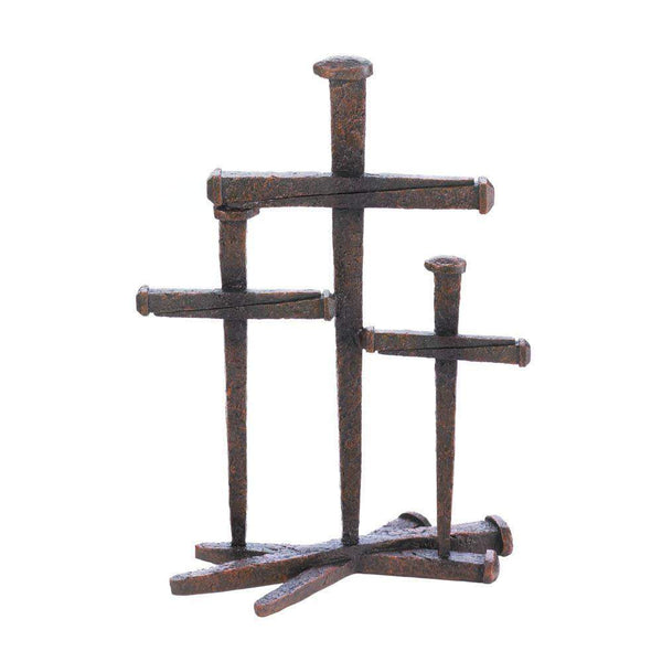 Cross Of Nails Trio Decor-Heavenly Decor-Across The Counter
