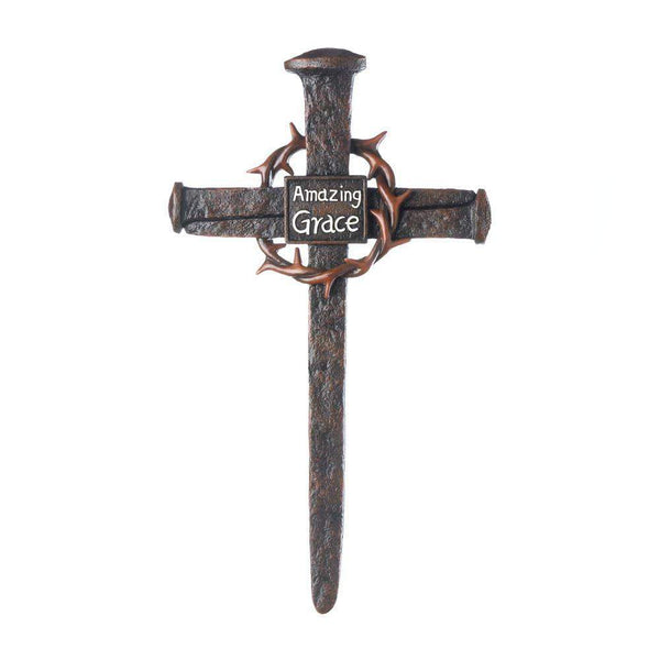 Crown Of Thorns Nail Cross-Heavenly Decor-Across The Counter