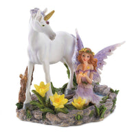 Fairy And Unicorn Statue-Fairies and Unicorns-Across The Counter