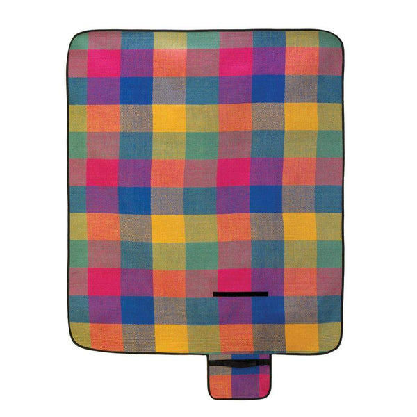 Modern Plaid Folding Picnic Mat-Barbeque and Picnic-Across The Counter