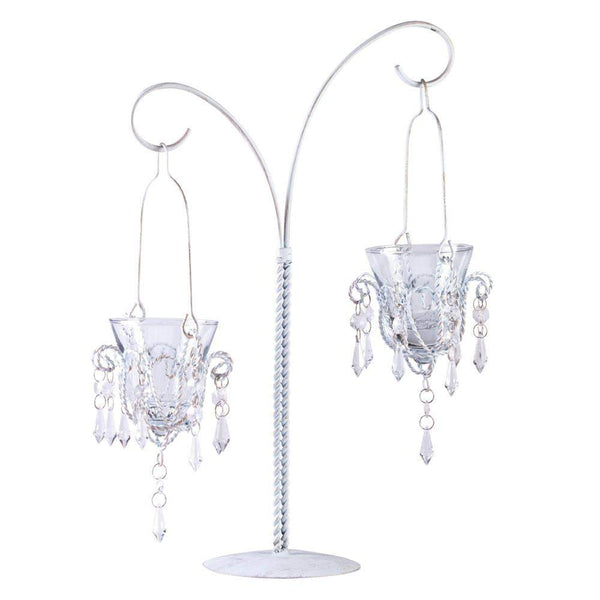Mini-chandelier Votive Stand-Tealight Candleholders-Across The Counter