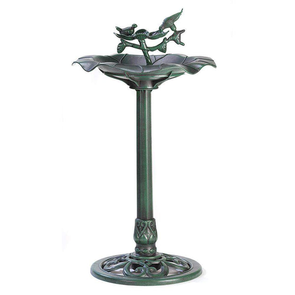 Outdoors Verdigris Birdbath-Birdbaths-Across The Counter