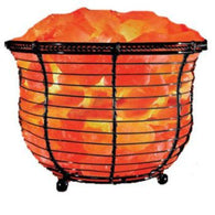 Himalayan Salt Tall Basket Lamp-Himalayan Salt Lamps-Across The Counter