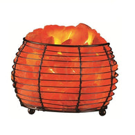 Himalayan Salt Round Basket Lamp-Himalayan Salt Lamps-Across The Counter