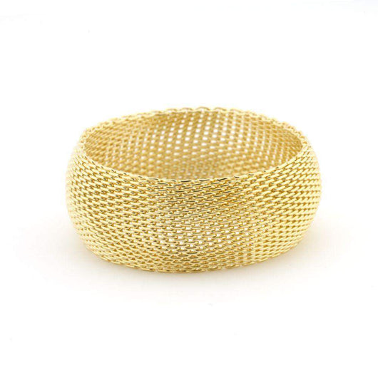 Monaco Gold Bangle Bracelet-Bracelets-Across The Counter