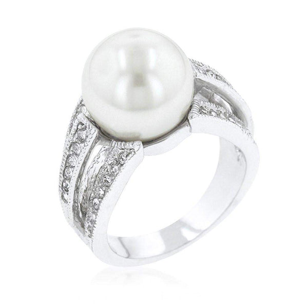 12 Mm Shell Pearl Bridal Ring-Rings-Across The Counter