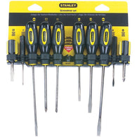 Stanley 10-piece Standard Fluted Screwdriver Set-Tools-Across The Counter