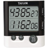 Taylor Dual Event Digital Timer And Clock-Kitchen Helpers-Across The Counter
