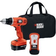 Black & Decker 12-volt Cordless Drill & Stud Sensor Kit-Tools-Across The Counter