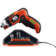 Black & Decker Lithium Screwdriver With Screw Holder-Tools-Across The Counter