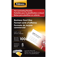 Fellowes Business Card Laminating Pouches 100pk-Other Household-Across The Counter