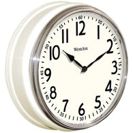 "Westclox 12"" Round Vintage Kitchen Classic Clock White-Clocks-Across The Counter"