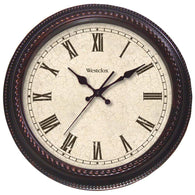 "Westclox 20"" Round Marbeled Case Finish Clock-Clocks-Across The Counter"