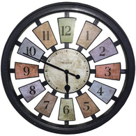 "Westclox 18"" Round Colored Panels See Through Clock-Clocks-Across The Counter"