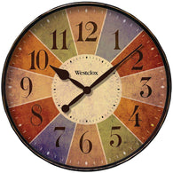 "Westclox 12"" Round Multicolor Dial Clock-Clocks-Across The Counter"