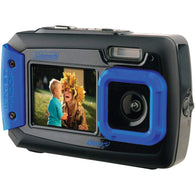 Coleman 20.0 Megapixel Duo2 Dual-screen Waterproof Digital Camera (blue)-Cameras and Camcorders-Across The Counter