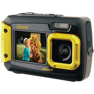 Coleman 20.0 Megapixel Duo2 Dual-screen Waterproof Digital Camera (yellow)-Cameras and Camcorders-Across The Counter
