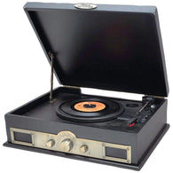 Pyle Classic Style Turntable With Bluetooth (black)-Turntables and Record Players-Across The Counter
