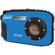 Coleman 20.0 Megapixel Xtreme3 Hd And Video Waterproof Digital Camera (blue)-Cameras and Camcorders-Across The Counter
