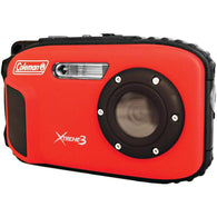 Coleman 20.0 Megapixel Xtreme3 Hd And Video Waterproof Digital Camera (red)-Cameras and Camcorders-Across The Counter