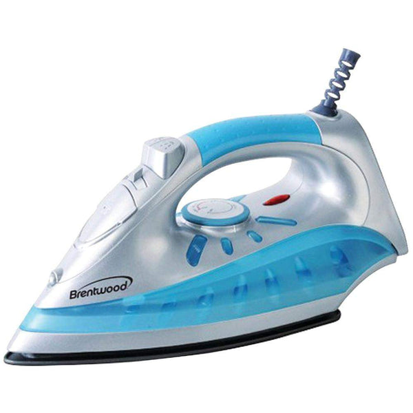 Brentwood Nonstick Steam And Dry Spray Iron With Silver Finish-Irons and Steamers-Across The Counter