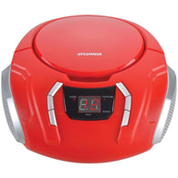 Sylvania Portable Cd Player With Am And Fm Radio (red)-Home Theater and Stereos-Across The Counter