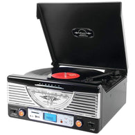 Pyle Home Bluetooth Retro Vintage Classic Style Turntable Vinyl Record Player With Usb And Mp3 Computer Recording-Turntables and Record Players-Across The Counter