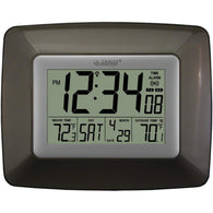 La Crosse Technology Atomic Digital Clock With Indoor And Outdoor Temperature (black)-Weather Stations-Across The Counter