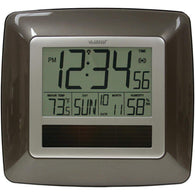 La Crosse Technology Solar Atomic Digital Wall Clock With Indoor Temperature (bronze)-Weather Stations-Across The Counter