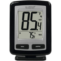 La Crosse Technology Black Wireless Temperature Station-Weather Stations-Across The Counter