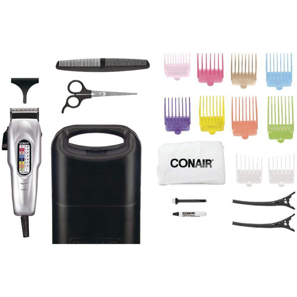 Conair 18-piece Number Cut Haircut Kit-Electric Shavers and Trimmers-Across The Counter