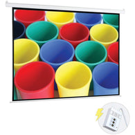 "Pyle Motorized Projector Screen (100"")-Projectors and Screens-Across The Counter"