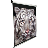 "Elite Screens 100"" Manual B Series Projection Screen (1:1 Format; 71"" X 71"")-Projectors and Screens-Across The Counter"