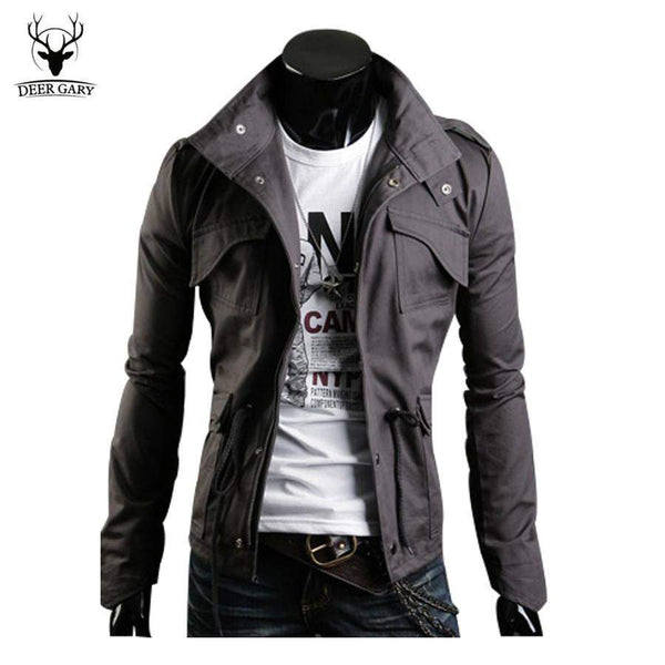 Cool Designed Mens Jacket Coat Tunic Jacket Spring&Autumn Slim Fit Collar Casual Style Windproof Outwear Clothes Size M-3XL-mens-Across The Counter