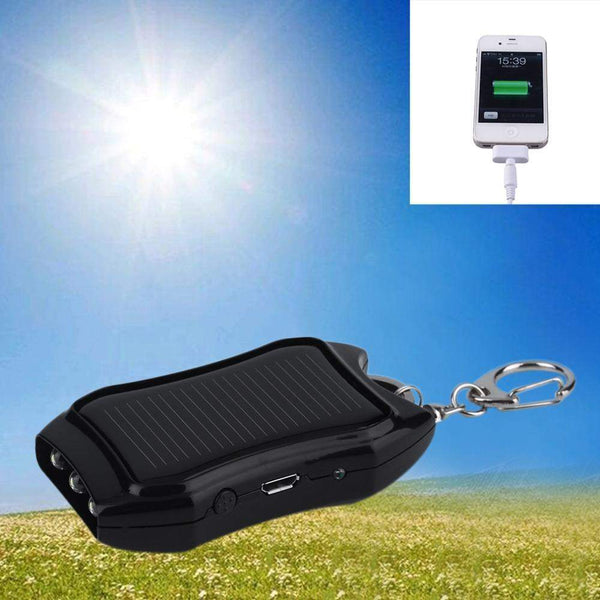 1200mAH Solar Keychain Solar Charger Mobile Power Supply Energy Saving Charger/Battery Power Bank For Cellphone New-power bank-Across The Counter