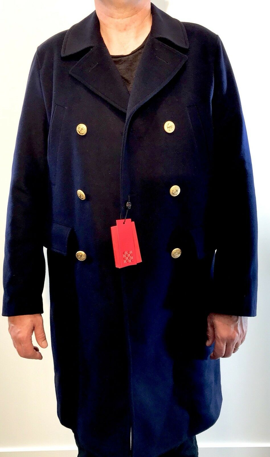 Carolina Herrera Men's Military Style Coat. Retails $1,145 Price $495 NWT Size L