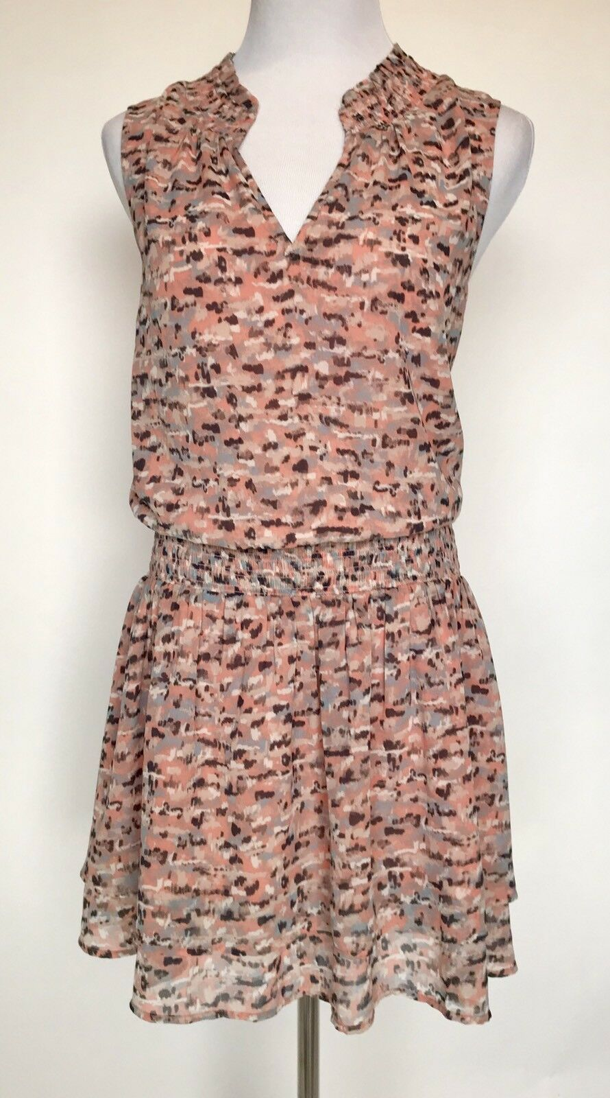 LUCKY BRAND Drop Waist Coral Print Dress. Size L Retail $89.50 Price $44 NWT