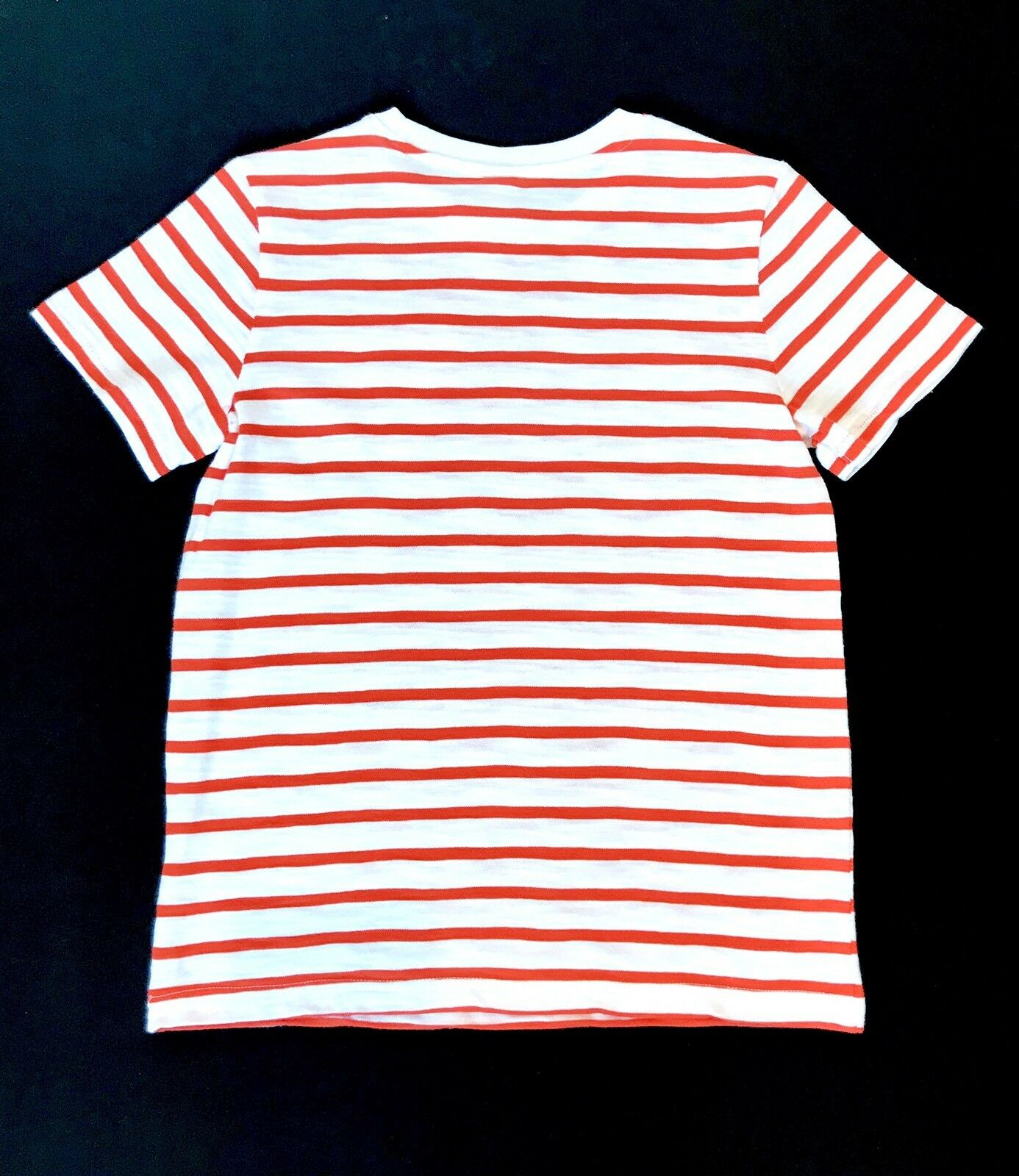 Janie And Jack Orange And White Striped Tee Age 7 NWT Retail $19 Price $13.50
