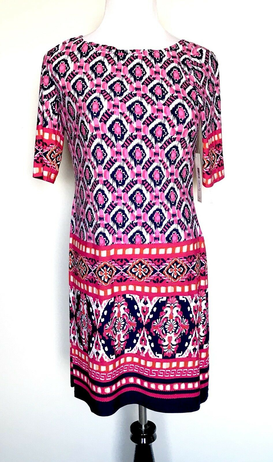 Eliza J Pink Diamond Stretch Tunic Dress NWT Retails $118 Price $59 Size 10