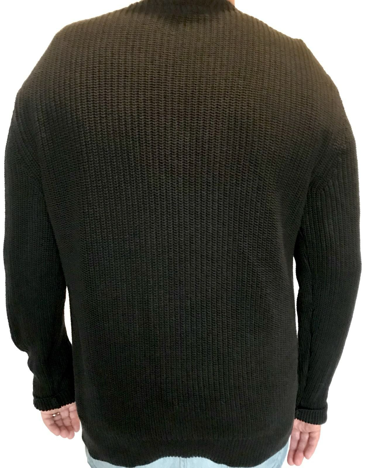 AllSaints Black Marsk Crew Sweater Retails $165 NWT Price $76 Size L