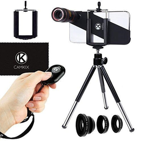 CamKix Lens Kit for iPhone X with Bluetooth Camera Remote