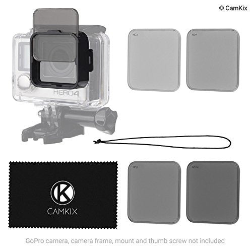 Cinematic Filter Pack for GoPro HERO 4 / 3+ - Waterproof Housing