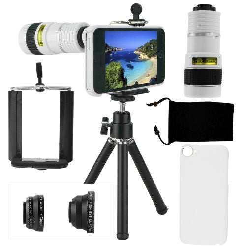 Lens Kit for iPhone 5C - 4in1 - 8x Telephoto