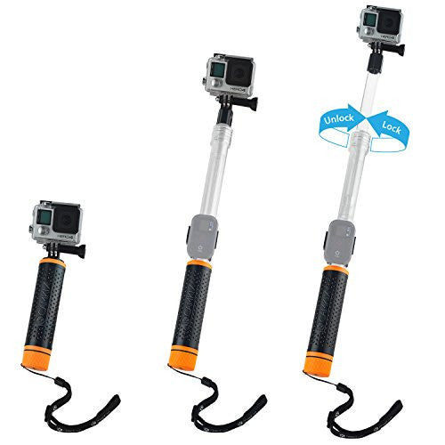 Waterproof Pole & Hand Grip for Gopro Hero